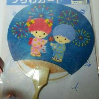 中古 Sanrio Little Twin Stars 女兒節扇