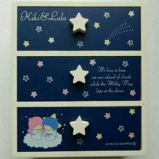 中古 2003 Sanrio Little Twin Stars 三層木櫃 全新
