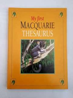 🆕️My First Macquarie Thesaurus