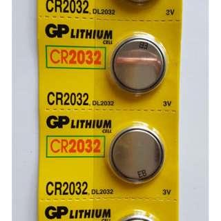 GP LITHIUM CELL CR2032 3V 鈕型鋰電池