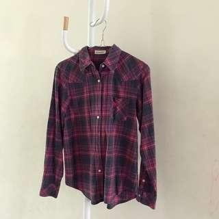 PINK FLANNEL TOP