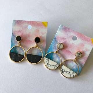 🚚 Marble Earrings