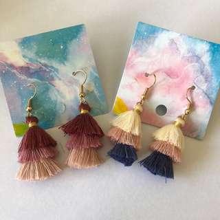 🚚 Tiered Tassel Earrings