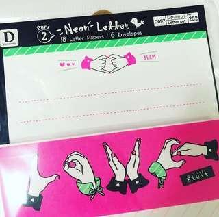 Mini Love Letter * 情人 迷你 信紙+信封 * Love 手勢