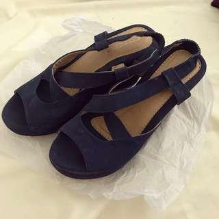 CONNEXTION NAVY WEDGES