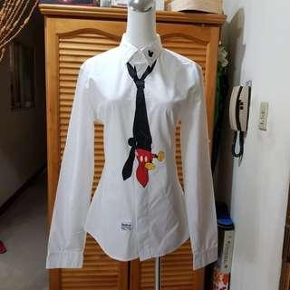 °☆ 珮齊精品舖 ☆° DISNEY COLLECTION by STAYREAL 米奇白色長袖襯衫