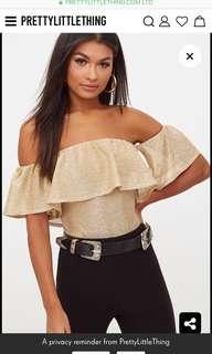 BNWT Gold Shimmer Bodysuit