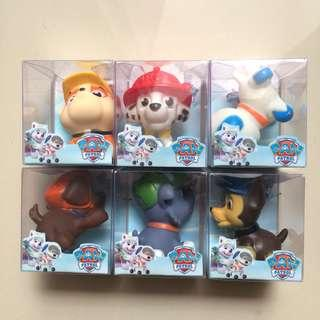 Paw Patrol squeaky toy baby kids bath toys mainan anak murah cake toppers