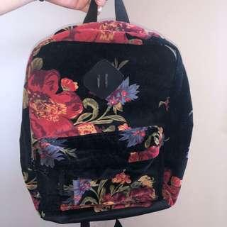 Velvet Floral Backpack