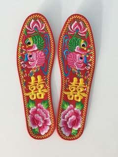 婚後物資 褂鞋鞋墊 結婚鞋墊