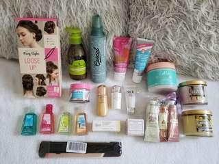 23 x High end skin, hair and body care items + 2 x FREE reed diffusers!