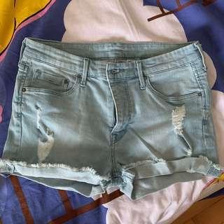 *包平郵* H&M 高腰短褲 high rise denim shorts