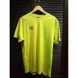 Umbro Drifit Training Shirt Yellow Size XL