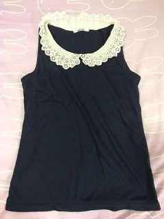 Nice Claup navy blue top