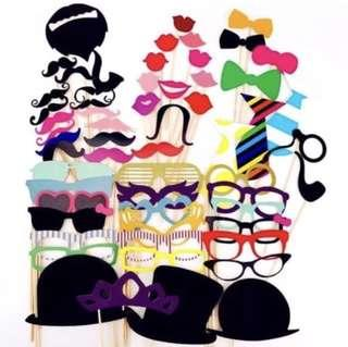 🚚 [Sellabrations] CLEARANCE Photobooth Props - 58pcs Moustache