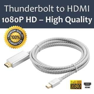 Mini DisplayPort (Thunderbolt) to HDMI 2M Cable - High Quality