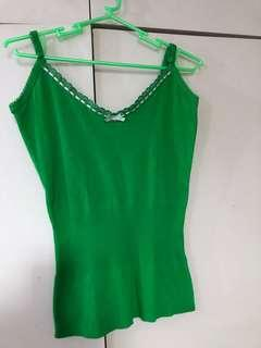 Dranella Green Knitted Top