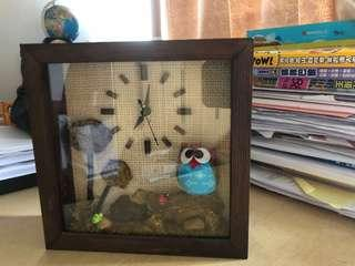 (購自泰國🇹🇭) 自家制座枱式木鐘