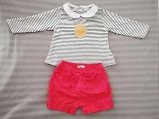 Obaibi Baby LS Shirt & Shorts Combo