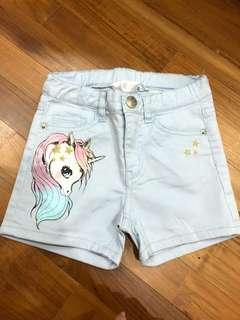Cheap Deal! H&M Unicorn shorts