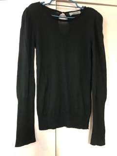Zara Black Knitted Top