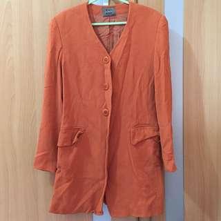 Rust orange Long blazer