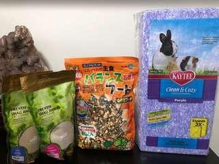 Hamster Bedding| Hamster food| Hamster sand
