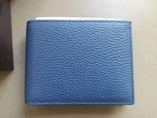 Gucci blue (with removable holder) wallet 藍色2用銀包