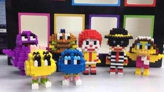 McDonald's x Nanoblock (Ronald & Friends) Complete Set
