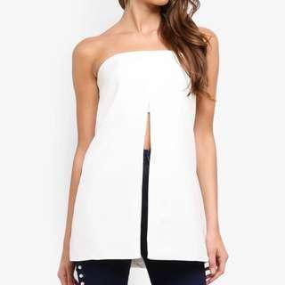 Missguided White Bandeau Slit Top