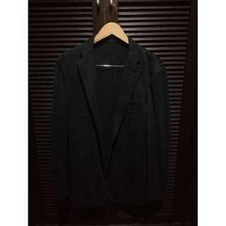 Uniqlo Comfort Jacket Charcoal w/ Checkered Print Size XL