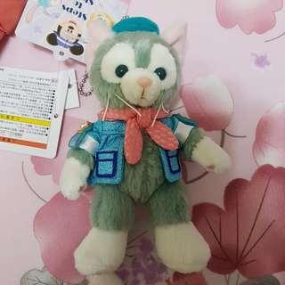 🚚 畫家貓 日本 傑拉東尼(畫家貓) 舞會版站姿吊飾 日本迪士尼園區內限定款 附園區提袋