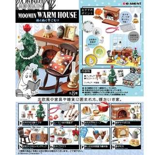 Re-ment 日本食玩 MOOMIN Winter Warm House 姆明冬天溫暖的家 小肥肥一族 全套8款 (全新)