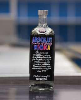 Absolut Vodka Andy Warhol Collaboration 1L