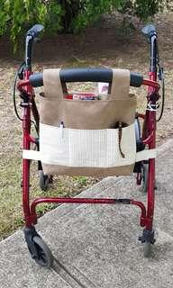 Walker bag organiser, walker tote, rollator accessory, rollator bag, handmade, 1of a kind.