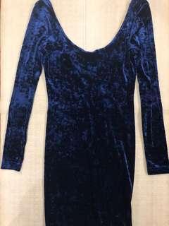 Topshop Velvet Backless Cocktail Dress