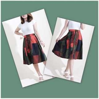 HTP buttoned midi skirt brand new M-L #ctto