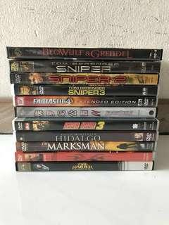 Collection Of Preowned DVD Movies / Concerts Discs
