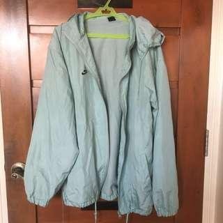 Aquamarine Teal Nike Raincoat Jacket