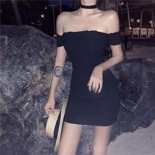 [INSTOCK] Black Off Shoulder Dress