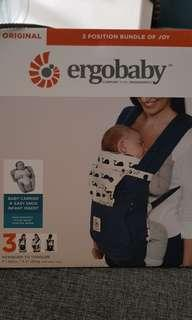 Preloved Ergobaby Original - Bundle of Joy #BukanKW termasuk Easy Snug Infant Insert