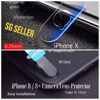 🚚 Iphone X, 8, 8plus, 7, 7plus Camera lens Protector