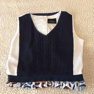 Plains and Prints Preppy Vest Dress