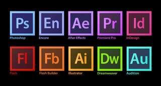 Windows 7, 8, 10. Adobe photoshop, AI, AE and more