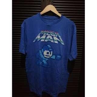 Megaman Retro Shirt Blue Size XL