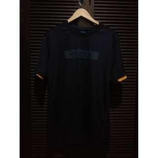 Reebok Drifit Training Shirt Black w/ Orange Trims Size XL