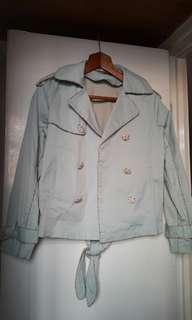 全新粉綠色外套