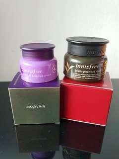 Auth innisfree orchid enriched cream and black green tea mask