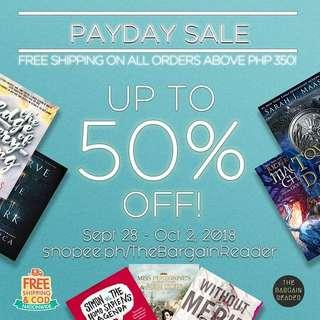 [BOOKSALE] Up to 50% OFF with FREE NATIONWIDE SHIPPING AND COD!
