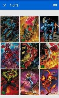🚚 1995 marvel masterpieces 151 cards set